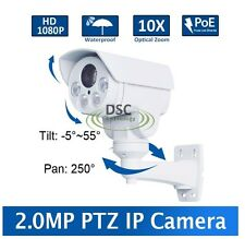 CCTV 1080P 2.0MP POE 10X 5-50mm ICR IR80m IP66 MINI PTZ camera Built in SD Slot