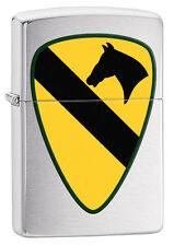 Zippo 29184, US Army 1st Cavalry,  Brushed Chrome Lighter
