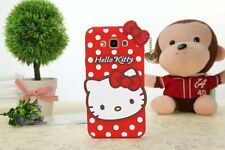 3D Cute Cartoon Animal Hello Kitty Silicone Soft Case for iPhone Samsung Phones