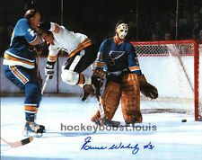 Add HOFer #4 Bobby ORR SCREENS Ernie WAKELY Signed BLUES Bruins CUSTOM 8X10 !!!