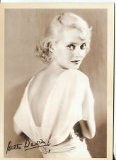 PICTURE POST CARD OF BETTE DAVIS UNKNOWN DATE LOOKS LIKE 30'S