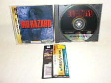 Sega Saturn BIOHAZARD Resident Evil with SPINE CARD * Capcom Japan Game ss