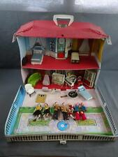 Vtg Ideal Toys Petite Princess Doll House w/ Family & Furniture + Accessories