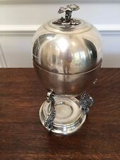 ANTIQUE VINTAGE ENGLISH HAND CHASED SILVER PLATED COVERED EGG WARMER