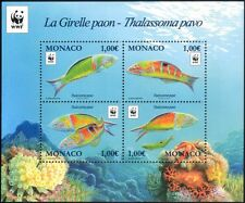 Monaco 2016 WWF/Ornate Wrasse/Fish/Marine/Nature/Conservation 4v m/s (mc1066)