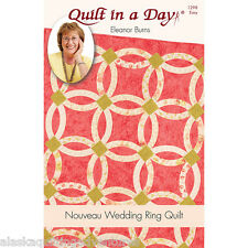 Quilt Pattern ~ NOUVEAU WEDDING RING  ~ by Eleanor Burns - Quilt in a Day