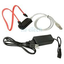 US Plug HDD Hard Drive Adapter Converter Cable USB 2.0 to IDE SATA S-ATA 2.5 3.5