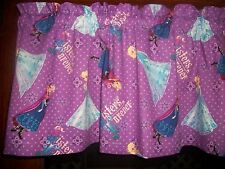 Disney Movie Frozen Sisters Forever Purple Polka Dot fabric curtain Valance