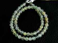 """3mm. Natural Green Prehnite Faceted Rondelle Gemstone Beads 8"""""""