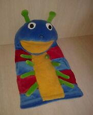 Caterpillar Hand Puppet Plush Blue Green Yellow Red 14""