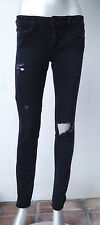 American Eagle Outfitters Gray Distressed Super Stretch Skinny Jeans Jegging 4