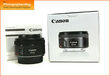 Canon EF 50mm F1.8 STM Autofocus Lens for EOS SLRs + Free UK Postage
