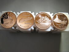 Boat Set 4 Different Designs of Rounds 1 oz .999 Copper Beautiful Designs