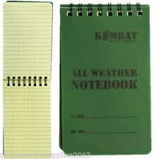 MILITARY NOTEPAD WATERPROOF PAPER A6 50 PAGE POCKET SIZE NOTEBOOK BRITISH ARMY