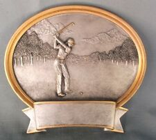 "6"" size oval resin plaque GOLF award  trophy female 56622GS"