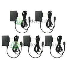 5 Micro USB Battery Home Wall AC Charger for Samsung Rugby 4/LG G4/HTC One M9
