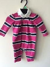 Baby Girls All In One Ralph Lauren Pink Coverall UK Size 3 Months Rrp £65