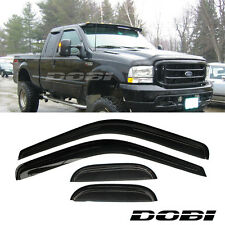 DOBI 4pc Vent Shade Window Visors 99-15 F250/F350/F450 Super Duty Extended Cab