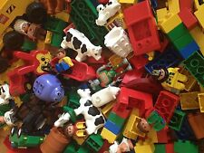 Lego Duplo 1700gr. Assorted building bricks pieces people vehicle animals 1,7 kg