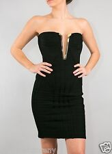 Herve Leger Sharam V-Neck Bandage Dress Black in size Large