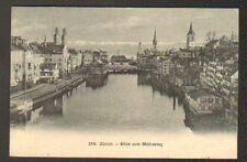 ZURICH (SUISSE) BADER BAINS , BLICK VOM MUHLESTEG en 1911