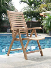 RECLINING CHAIR A+ GRADE TEAK GARDEN OUTDOOR FURNITURE PATIO - ASHLEY COLLECTION