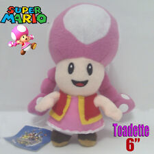 Super Mario Bros Chracter Plush Toadette Soft Toy Stuffed Animal Figure Doll 6""