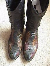 DAN POST Men's Western Cowboy Boots Size 8 1/2 D Multi Exotic Skin of Some Kind