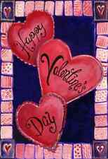 "3 Hearts For Valentine's Day House Flag Love Heart Decorative  Banner  28"" x 40"""