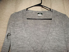 J CREW womens XS gray alpaca wool blend cardigan sweater excellent