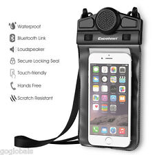 Universal Mini Portable Waterproof Phone Pouch with Bluetooth Speaker Hands-Free