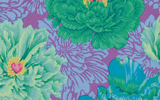 BROCADE PEONY GREEN Philip Jacobs Kaffe Fassett Sold in 1/2 yard increments