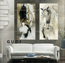 GUDI-HandPainted Abstract Modern Oil Painting Canvas Animals Horse Unframed