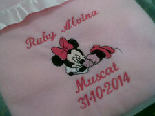 personalized with your childs name minnie mouse cot blankets