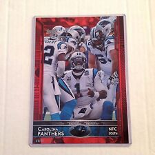 Card #244 CAM NEWTON Andrew Norwell #68 RC Panthers #/25 made Red 2015 Topps 5x7