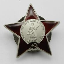 WWII CCCP SOVIET RUSSIAN COMBAT ORDER OF THE RED STAR -1336