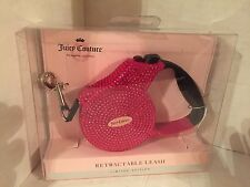 NEW JUICY COUTURE DOG LEASH, RETRACTABLE, LIMITED EDITION, JEWELED BLING