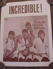 BEATLES BUTCHER RECORD LP COVER 60s ART POSTER John Lennon Yesterday and Today