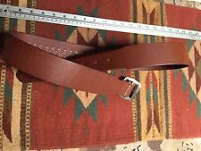 Brown Leather Cartridge Ammo Bullet Belt 38 Spcl / 357 Magnum Loops Size 42/43