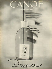 Publicité Advertising 1962  Parfum  CANOE de DANA  eau de cologne