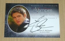2014 Vampire Diaries Season 3 on-card autograph Steven R McQueen as Jeremy A5 SP