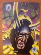 Marvel Overpower Monumental Intellect Level 5 Loki Power Card