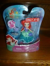 "Disney Princess Little Kingdom Magical Glimmer ARIEL Snap-Ins 3"" Mini Doll"