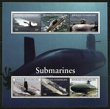 CENTRAL AFRICA  2015  NEW RELEASE SUBMARINES SHEET   MINT NH