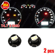 2pcs T5 Neo Wedge 2SMD LED Light White Cluster Instrument Dashboard Climate Bulb