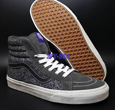 VANS SK8 HI LIBERTY TONAI PAISLEY GREY SIZE 11 MEN'S SKATE SHOES /era s7110