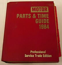 MOTOR Parts & Time Guide 1984, Professional Service Trade Edition