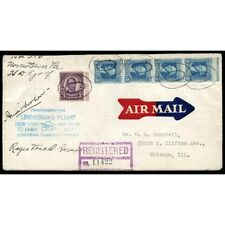 Amelia Earhart US 1932 (May 20) autograph on postal cover