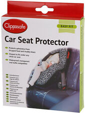 Clippasafe CAR SEAT PROTECTOR Baby/Toddler Car Safety Organisation Travel BN
