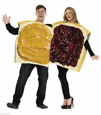 Peanut Butter and Jelly Unisex Couples Pair Duo Costume Comical Funny Halloween